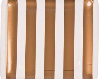 Elegant Gold & White Wedding Dinner Plates / gold plates / party plates/ wedding /bridal shower plates