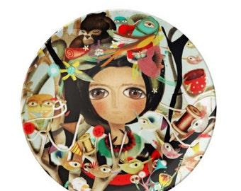Porcelain Plate - Me enamoré de ti cabrón - Rupydetequila Art 2014