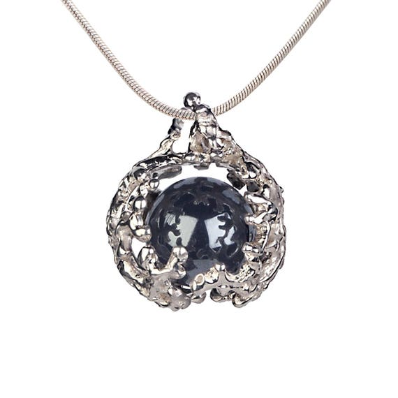 Coral nest hematite pendant necklace hematite stone pendant aloadofball Images