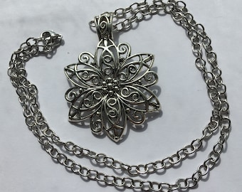 Silver Flower Necklace