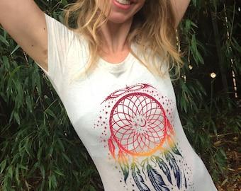 Women's Rainbow Dreamcatcher Shirt