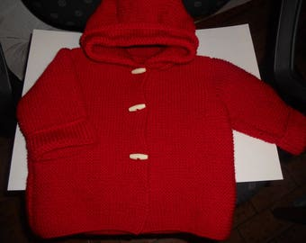 Jacket or baby wool jacket size 6/9 months Red