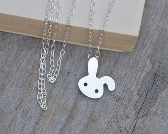 Bunny Rabbit Necklace, Floppy Ear Rabbit Necklace, Spring Necklace, Handmade In The UK