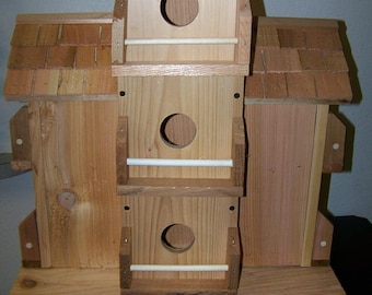 Purple Martin cedar birdhouse with 10 separate compartments Free Shipping