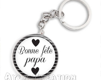 Cabochons glass 25mm #PA_ME030 dad keychain