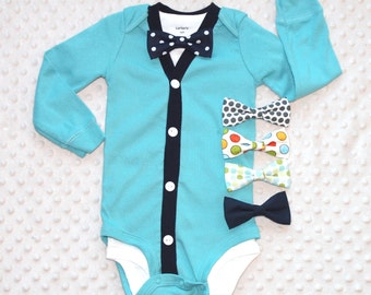 Baby Boy Cardigan and Bow Tie Set, Smash Cake Outfit, Baby Boy Outfit, Baby Boy Clothes, Trendy Baby Boy Outfit