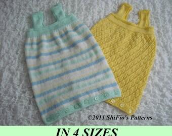 KNITTING PATTERN For  2 Sleeping Bags Sacks Knitting Pattern in 4 Sizes PDF 190 Digital Download