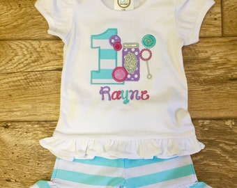 personalized Birthday shirt with Blowing Bubbles