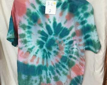 Tie Dyed T-Shirt Adult Large  (AL-2)
