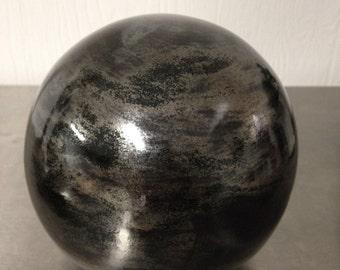 Glazed Ceramic Sphere, Unique Orb, Home Accent/Decor