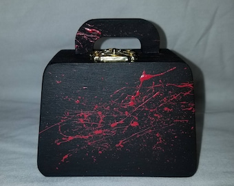 Small Blood splatter purse