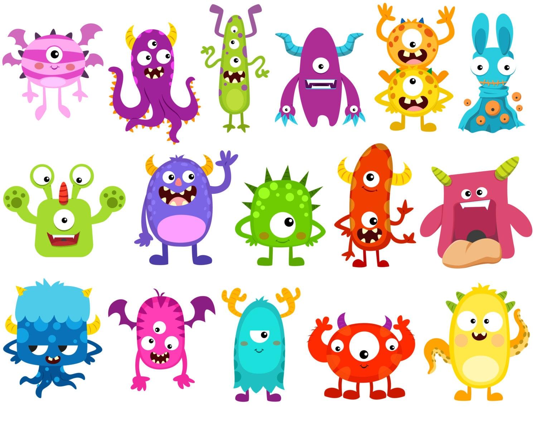 monster clipart monsters clip art birthday clipart monster rh etsy com clipart masters clipart masters