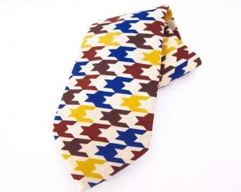 Silk Tie Vintage Necktie Vintage Tie Mens Necktie Vintage Silk Necktie Wide Tie Seventies 1970s Bold Design Retro Design