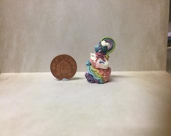 Ooak handmade miniature unicorn cake