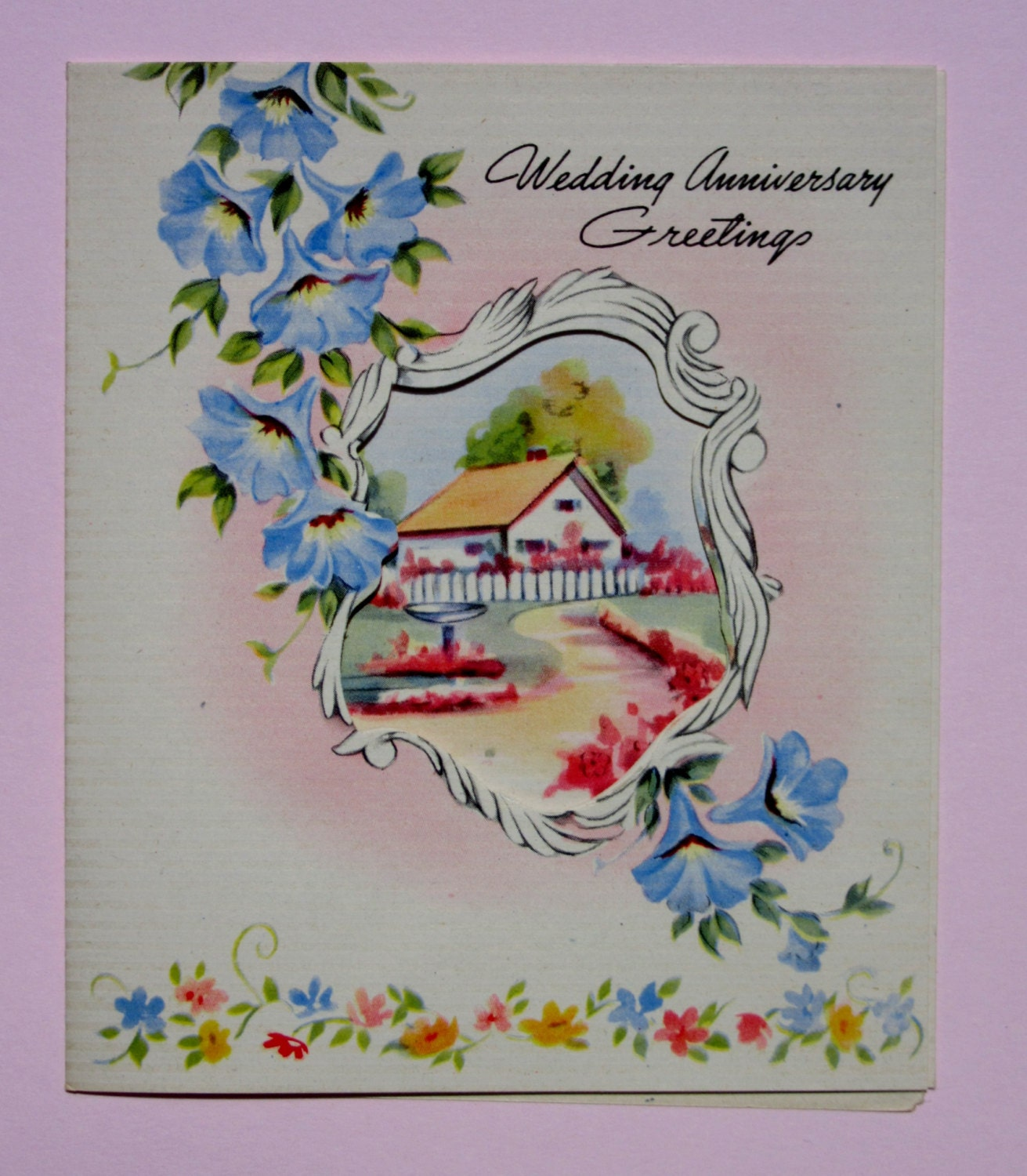 Vintage wedding anniversary greeting card featuring beautiful zoom kristyandbryce Image collections