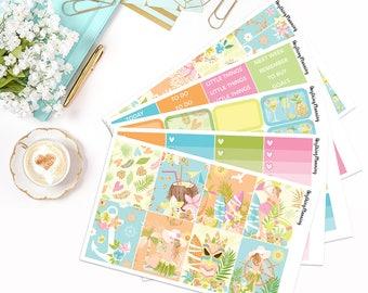 Aloha - Weekly Kit | Erin Condren Vertical Life Planner Stickers