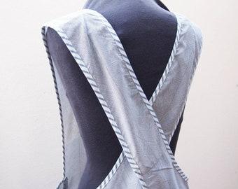 Pinafore apron - Full length apron - Cross back apron - Slipon apron - Full coverage apron - Kitchen apron - Hostess apron - Japanese apron