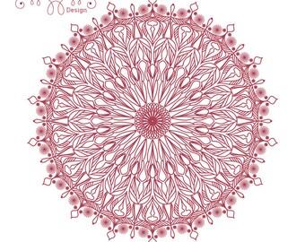 Mandala 3, clipart, digital drawing