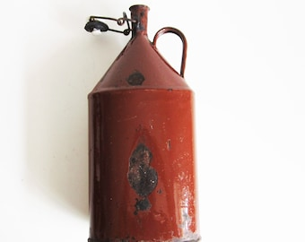 Antique Metal Bottle, use to decorate your house, collect,anything you can imagine.