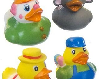 Carnival rubber ducks - clown, elephant, vendor, engineer - really cute - perfect as party favors