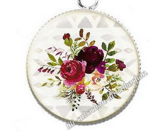 Ethnic Dreamcatcher av32 flowers resin pendant cabochon