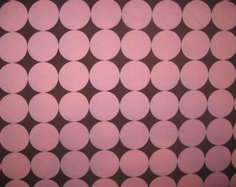 Michael Miller Disco Dot pink brown fabric 1 yard