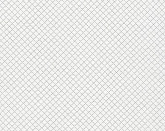 Remix - Crisscross in Silver Metallic - Ann Kelle - Robert Kaufman (AAKM-15240-186)