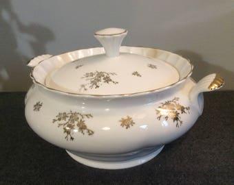 Dutch Vintage Porcelaine Soupiere, Maastricht Serving Bowl, Maastricht Mosa Porcelain Serving Bowl