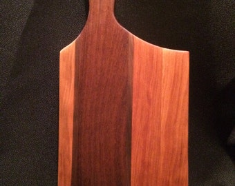 """The """"Halsted"""" Cherry, Walnut and Mahogany Serving/Cheese Board"""