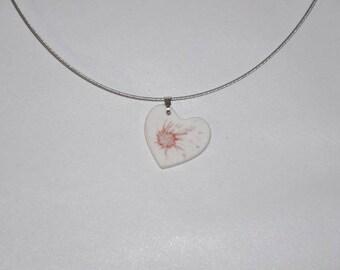 Limoges porcelain necklace