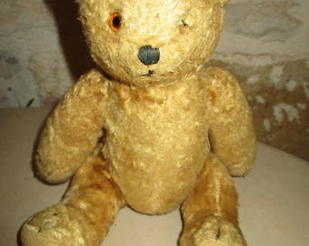 Old bear stuffed with wood shavings, 24 cm articulated to restore old Teddy Bear