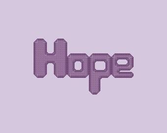 Hope Cross Stitch Pattern PDF Digital Download