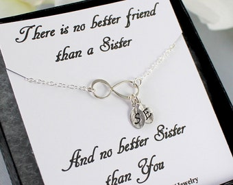 Twin sisters gift etsy sterling silver infinity bracelet personalized infinity bracelet dainty initial charm sister gift bridesmaids negle Images