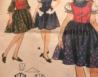 Very Rare Pattern for Sound of Music Dress, Vest and Scarf---Butterick 3699---Size 13  Bust 33