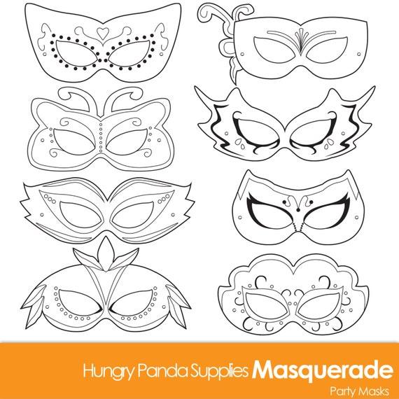 Masquerade Masks Masquerade Mask Printable Masquerade Mask