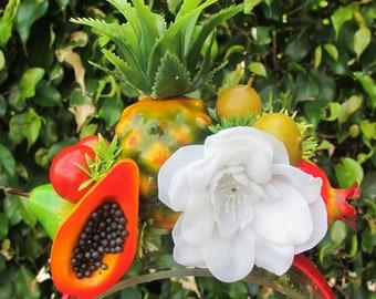 Tropical Fruits  Headband - Carmen Miranda style -