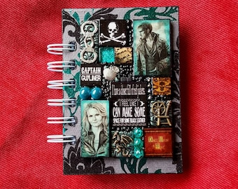 Once Upon a Time A7 Journal. Captain Hook Emma Swan Colin O'Donoghue Jennifer Morrison. pirate. jolly roger