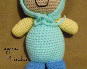Crochet Sleeping Buddy Stuffed Doll