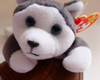 Ty Beanie Baby Nanook the Husky | Retired | Style 4104 | DOB 11. 21. 96. | MWMT with errors