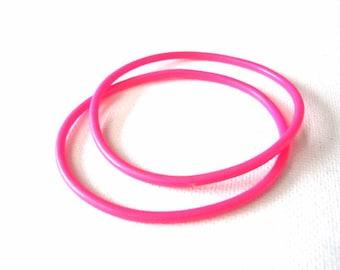 2 Vintage Pink Jelly Bracelets