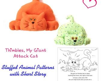 Cat Plushie Pattern / Cat Sewing Pattern / Doorstop Pattern / Cat Soft Toy Pattern / Cat Doorstop Pattern / Pattern / Soft Toy Patterns