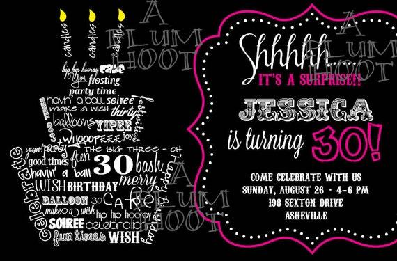 30 Geburtstag Einladung Uberraschungs Party Kann Fur Jedes