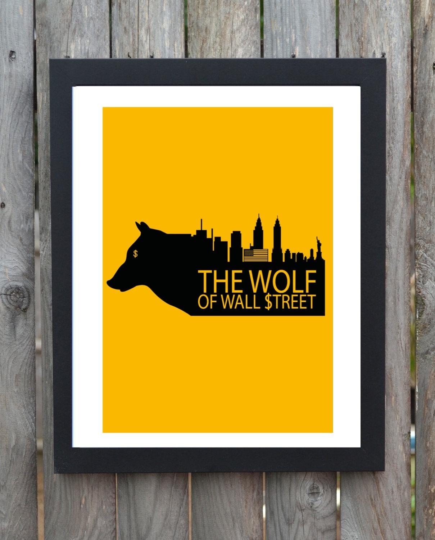 Wolf Of Wall Street minimal minimalist movie poster