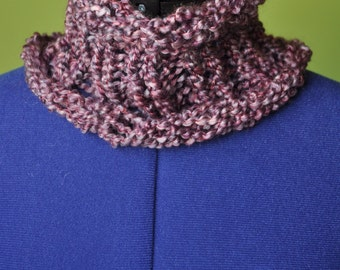 Purple Knitted Cowl