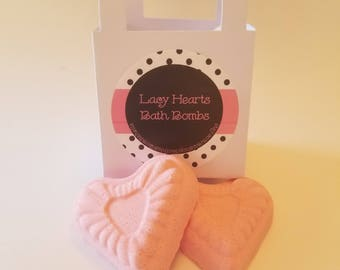 Lacy Hearts Bath Bomb Set