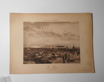 Free shipping-Ancient Art Print, The dream Edouard Detaille, Le rêve (1888), Luxembourg Museum