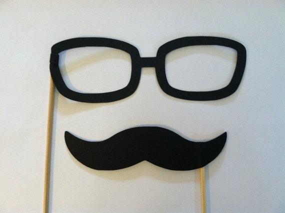 Schnurrbart und Brille am Stiel Hochzeit Foto Requisiten