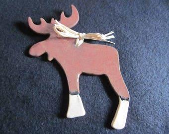 Pottery, Moose, Ornament, Souvenir, Ceramic, Handmade, Christmas
