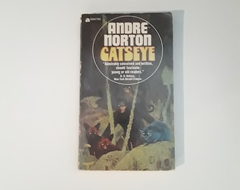 CATSEYE by Andre Norton(1961) sci-fi paperback, 1st edition!