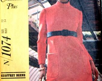 Misses Dress Sewing Pattern - Vintage Dress Sewing Pattern - 1960's Dress Sewing Pattern - McCalls 1074 - Size 12